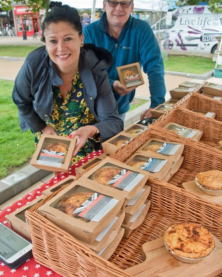 Carla and Andy Hall with their Humble Pies at eat:Weston. Picture: MARK ATHERTON