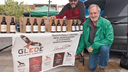 Adrian Carey and John Turner from Glede Brewing Company at eat:Weston. Picture: MARK ATHERTON