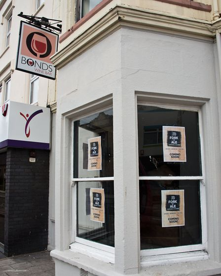 Bonds in Oxford Street to reopen, under new management, as the Fork 'n' Ale. Picture: MARK ATHERT