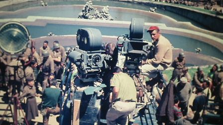 Filming crew for Patton