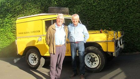 Tony, John and the yellow landrover they travelled the world with