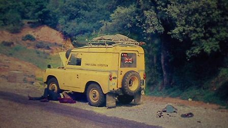 Road side recovery for the landrover