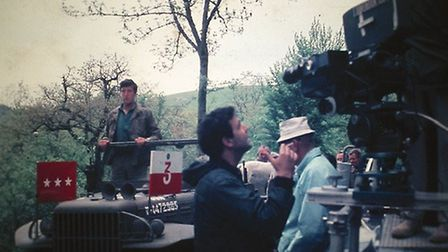 Tony standing in on set for George C Scott
