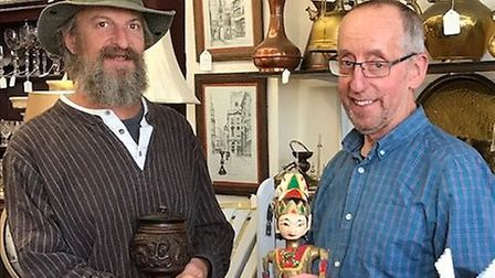Jon Webster and Adrian Apps at Just Stuff antiques shop in Weston.Picture: Make Me A Dealer
