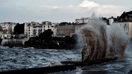 Westons fierce tide during a weather warning.Picture: Timmay Curtis