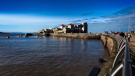 Calm blue skies highlight Westons appeal.Picture: Derek Hitchins