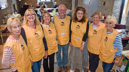 Volunteers at Nailsea and District Leg Club. Picture: MARK ATHERTON