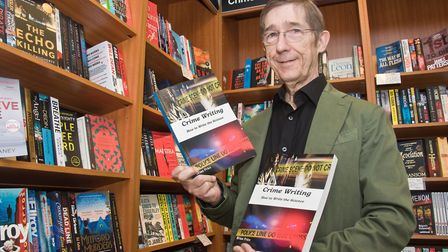 Author Brian Price with his book on Crime Writing. Picture: MARK ATHERTON