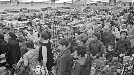Shoppers packed into the new Worle Gateway Foodmarket, the largest store the company has built, with