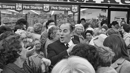 Large crowds gathered in High Street, Worle to see Harlech Television star Alan Taylor open the new