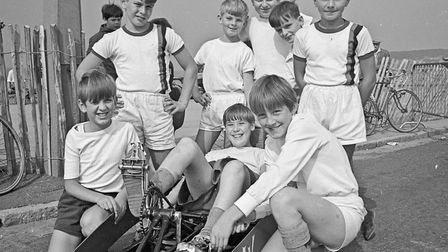 Scout groups from a wide area submitted entries for the fifth annual Weston pedal car races held on