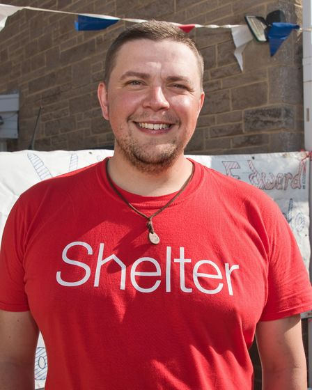 Edward James having just completed a charity walk from London to Burnham in aid of Shelter. Pictu