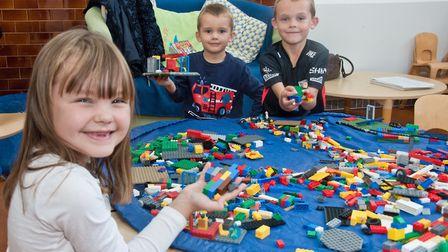 Worle Library. New fun palace with lego. Picture: MARK ATHERTON
