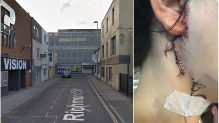 The attack took place in Richmond Street. Picture: Google