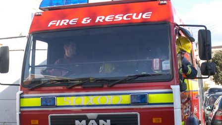 Three fire crews were called to tackle the blaze.