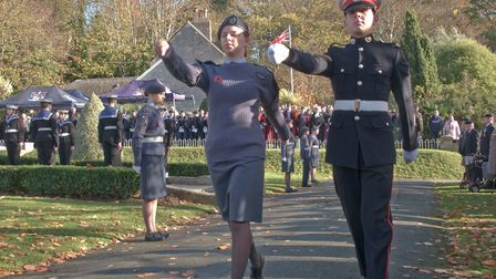 Weston Remembrance Day Parade and service in Grove Park. Picture: MARK ATHERTON