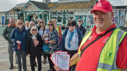 Strollers founder Mike Jones is leading a walk for bus drivers to promote health and wellbeing.Pictu