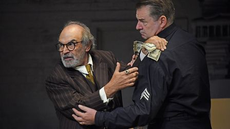 David Suchet and Brendan Coyle in 'The Price'. Picture: Nobby Clark