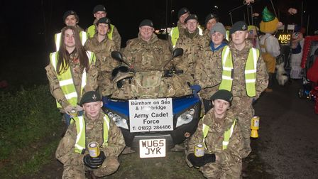 Burnham on Sea and Highbridge Army Cadets at Burnham Carnival. Picture: MARK ATHERTON