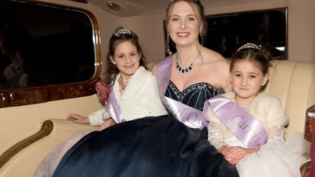 Carnival Queen Jessica Smith with princesses Chloe and Belle at Burnham Carnival. Picture: MARK A