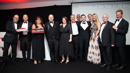 The winning staff from Aquarian Cladding Systems.