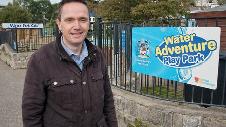 Cllr Mike Bell outside the Water Park on the sea front. Picture: MARK ATHERTON