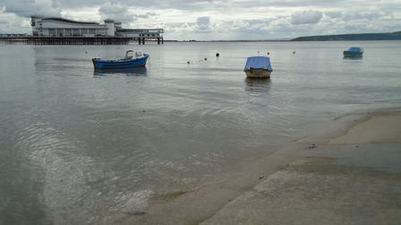 Boats rest on waters near Knightstone Causeway.Picture: Nick Page Hayman