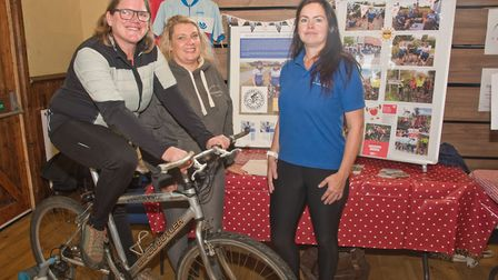 Wedmore Women Wheelers Sam Brown, Sarah Brown and Michaela Miller at Wedmore Health and wellbeing da