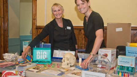 Dental nurse Sally Cantwell and Dentist Jennifer Morecroft at Wedmore Health and wellbeing day. P
