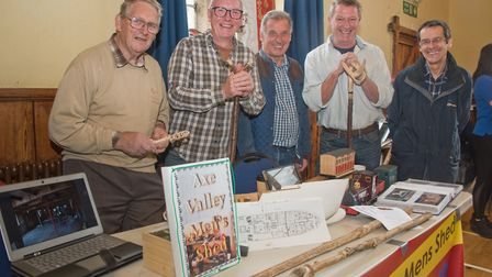 Members of Axe Valley Men's Shed at Wedmore Health and wellbeing day. Picture: MARK ATHERTON