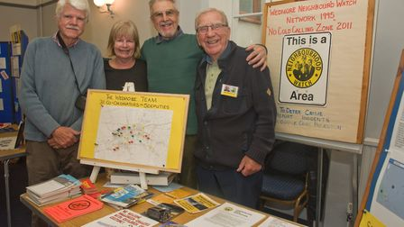The Wedmore Neighbourhood Watch team at Wedmore Health and wellbeing day. Picture: MARK ATHERTON
