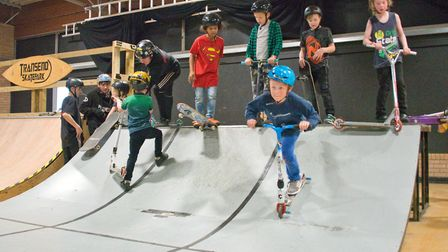 Transend Skatepark at the Tropicana over the half term holiday. Picture: MARK ATHERTON