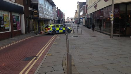 Regent Street taped off. Picture: Tom Wright