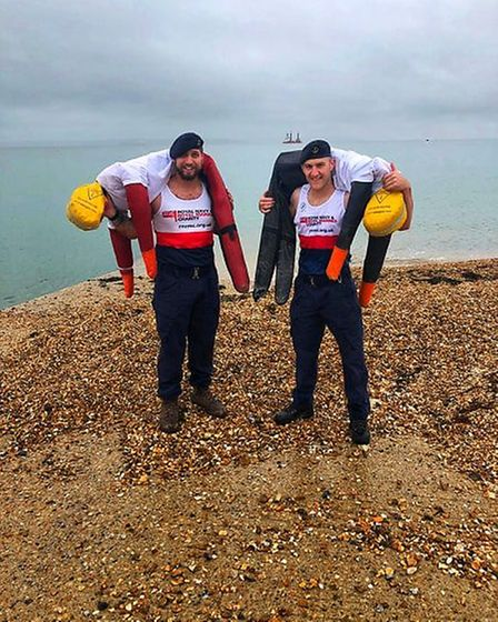 George Davis said his friend inspired him to do more charitable work.Picture: Royal Navy