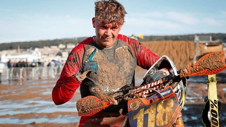 Weston beach race competitor