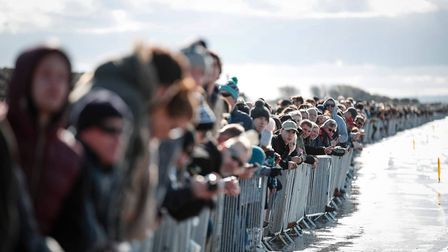Weston beach race spectators
