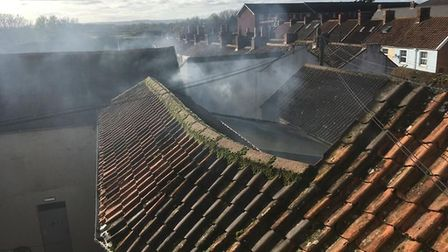 Crews from Burnham-on-Sea, Bridgwater, and Taunton tackled the fire for almost four hours. Picture