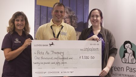 Pets as therapy handed more than £1,000