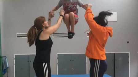 Boost Trampolining offers rebound therapy to children and adults with disabilities. Picture: Lisa Me
