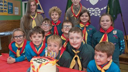 Wedmore Scouts holding a 100th birthday party. Picture: MARK ATHERTON