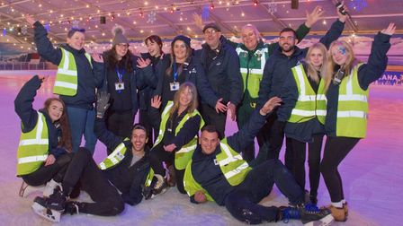 Icescape @ The Tropicana re-opens. Staff glad to be back on the ice. Picture: MARK ATHERTON