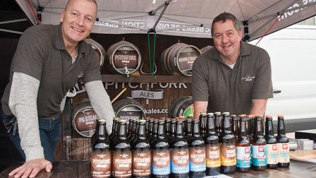 Mark Davey and Dave Turner from Pitchfork Ales at eat:Weston. Picture: MARK ATHERTON