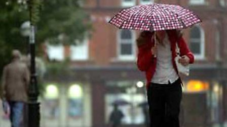 Heavy rain will descend on North Somerset this weekend.