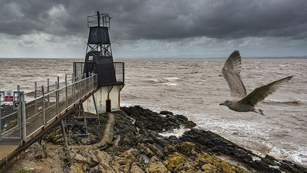 Stormy skies at Battery Point, in Portishead.Picture: Alan Harrison