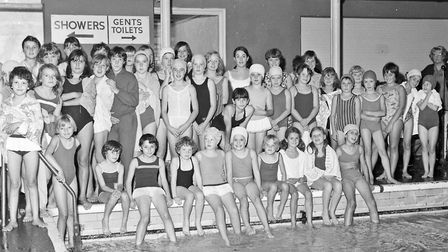 Competitors in the East District Guides' swimming gala at Knightstone Baths. Picture: WESTON MER