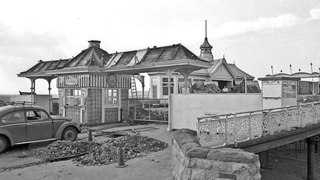 Work has started on the £45 000 improvement scheme at Weston-super-Mare's Grand Pier. It is the firs