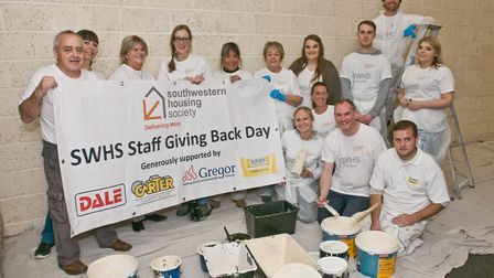 South West Housing Society volunteers renovating and decorating Weston's Somewhere To Go. Picture