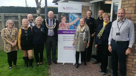 Weston mayor Mark Conniford helped launch the joint project on World Mental Health Day (Thursday)