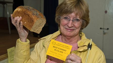 Catherine Martin won Best In Class for her lovely loaf at Yatton Autumn Show. Picture: MARK ATHER