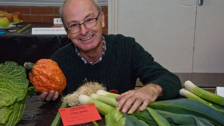 Stephen Thorne with his prize-winning exhibits at Yatton Autumn Show. Picture: MARK ATHERTON